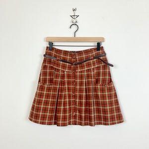 Zara Plaid Mini Skirt